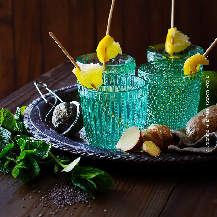 Le gingembre en cure détox, Réaliser des boissons fraîches et bienfaisantes avec le gingembre frais.